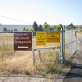 Entrance to Riverside/Old Church Campground.- Riverside/Old Church Campground