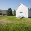 The Old Church (built in 1892) at Riverside/Old Church Campground.- Riverside/Old Church Campground