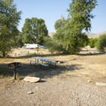 Typical campsite at Riverside/Old Church Campground.- Riverside/Old Church Campground
