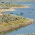Boats moored at Jordanelle Reservoir.- Jordanelle State Park