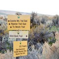 The trails are well marked.- Cowiche Mountain Trail