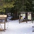The Fall Creek Trailhead. - Notch Mountain