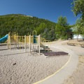 Playground at Jordanelle State Park Campground.- Jordanelle State Park Campground
