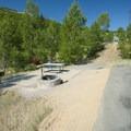 Typical campsite at Jordanelle State Park Campground.- Jordanelle State Park Campground