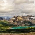 Looking back at Lake Magog and Wonder Pass.- Nub Peak