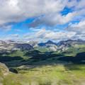 Looking east toward Assiniboine Pass.- Nub Peak