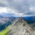 The ridge north of Nub Peak.- Nub Peak
