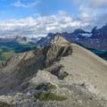 The ridge back toward Nublet.- Nub Peak