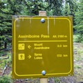 Great signage for much of the trail.- Lake Magog, Marvel Pass + Owl Lake Loop