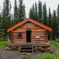 Typical cabin.- Lake Magog, Marvel Pass + Owl Lake Loop