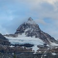 Close-up of Assiniboine after a light dusting of snow.- Lake Magog, Marvel Pass + Owl Lake Loop