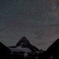 Stars from Lake Magog Campground.- Lake Magog, Marvel Pass + Owl Lake Loop