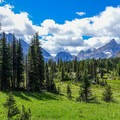 The peaks surrounding the open meadows at Marvel Pass.- Lake Magog, Marvel Pass + Owl Lake Loop