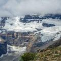 Close-up of Victoria Glacier.- Devils Thumb