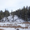 First of the Beaver Ponds.- Beaver Ponds Loop