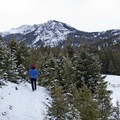 An amazing view of Sepulcher Mountain.- Beaver Ponds Loop
