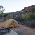 Red Cliffs Campground is an excellent place to camp.- Red Cliffs Campground