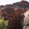 You don't need to leave camp to enjoy this view.- Red Cliffs Campground