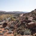 Overview of the southern part of camp.- Red Cliffs Campground