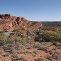 The northern end of camp.- Red Cliffs Campground