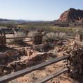 Pueblo remnants.- Red Cliffs Campground