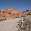 Classic red rock setting.- Red Cliffs Campground