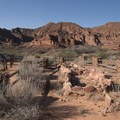 The Pueblo Site from the Anasazi Trail.- Anasazi Trail to Red Reef East Loop