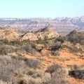 The views looking east toward Zion National Park.- Candy Cliffs of Yant Flat