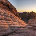 Sunset at Yant Flat.- Candy Cliffs of Yant Flat