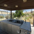 Fish cleaning station at Deer Creek State Park, adjacent to Sailboat Beach.- Sailboat Beach + Day Use Area