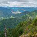A view to the west over the Coast Range.- Elk Mountain to Kings Mountain Traverse