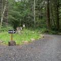 Parking lot at Elk Mountain.- Elk Mountain to Kings Mountain Traverse