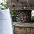 Kings Mountain summit registry.- Elk Mountain to Kings Mountain Traverse