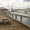 The boardwalk is a great place to stroll or have lunch.- Coos Bay Boardwalk