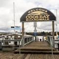 Entrance to Coos Bay Boardwalk.- Coos Bay Boardwalk
