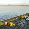 Some crabbers come prepared to wait a while.- Winchester Bay Crabbing
