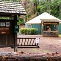 Campground welcome center.- Honeyman State Park Campground