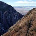 Looking at Rock Canyon with Provo and Utah Lake in the background.- Squaw Peak Loop