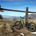 Cross the fence at the trail marker (this is not the right place).- Squaw Peak Loop