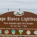 Cape Blanco Lighthouse.- Cape Blanco Lighthouse