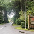 Campground entrance.- Cape Blanco State Park Campground