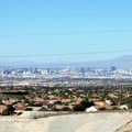 View of the Las Vegas valley from the trail.- Black Mountain Summit