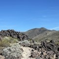 Large rock pile along the trail.- Black Mountain Summit