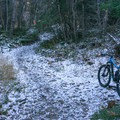 A light dusting of early November snow in the canyon.- Squaw Peak Loop