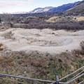 The intermediate pump track.- Draper Cycle Park