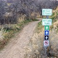 The entrance to the singletrack skills trails.- Draper Cycle Park