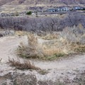 A swoopey berm on the singletrack skills trails.- Draper Cycle Park