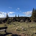 Several benches along the way offer places to rest and enjoy the view.- Rimrock Springs Wildlife Management Area