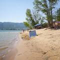 Middle Inlet Beach, Pineview Reservoir.- Middle Inlet Beach