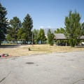 One of five large group campsites at Anderson Cove Campground.- Anderson Cove Campground + Swim Beach